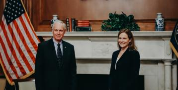 Senator Johnson with Judge Amy Coney Barrett